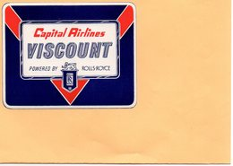 F2405 - Capital Airlines - VISCOUNT - Powered By - ROLLS ROYCE - Publicités