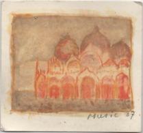 Tessera Di Iscrizione Associazione Omaggio A Venezia Anno 1987 N. 921. Piccola Acquaforte Firmata - Documenti Storici
