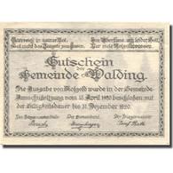 Billet, Autriche, Walding, 20 Heller, Eglise 1920-12-31, SPL Mehl:FS 1132c - Autriche