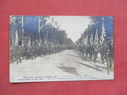RPPC------France Victory Parade 14 July 1919   Mailed From France To United States        Ref 3376 - War 1914-18