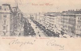 AK Gruß Aus Wien - Der Schottenring - 1898 (41291) - Ringstrasse