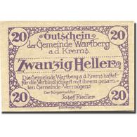 Billet, Autriche, Wartberg, 20 Heller, Eglise 1921-12-31, SPL Mehl:FS 1141a - Autriche