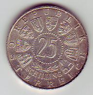(Monnaies). Autriche Osterreich 25 Sh 1956 Mozart Silver Argent Ag & 5 Sh 1969 - Autriche