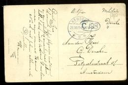 MILITAIR * HANDGESCHREVEN BRIEFKAART Uit 1914 Van HEUSDEN Naar AMSTERDAM  (11.557k) - Periode 1891-1948 (Wilhelmina)