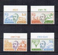Malta - 1974 - Centenario U.P.U. - 4 Valori Con Bordo Di Foglio - Nuovi - Vedi Foto - (FDC15587) - Malta
