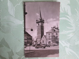 Obernai . Le Beffroi . Voitures Anciennes .2cv - Obernai