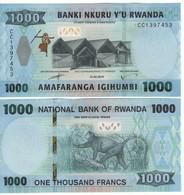 RWANDA New 1000 Francs 2019     Pnew    UNC - Rwanda