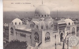 ALGER. LA MEDERSA. COLLECTION IDEALE. CPA OBLITEREE 1906 BOUZAREAH - BLEUP - Scene & Tipi