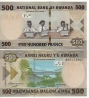 RWANDA New 500 Francs 2019     Pnew    UNC - Ruanda