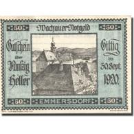 Billet, Autriche, Emmersdorf 50Heller Eglise 1, 1920 SPL Bleu Mehl:FS 1122.5IIa - Autriche