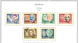 Romania PO 1967 Ritratti.  Scott.1939/1944+See Scan On Scott.Page; - 1948-.... Republics