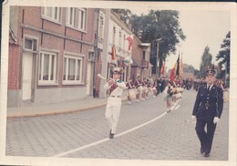 Foto Photo (9 X 12 Cm) Overmere ? Stoet Fanfare Rijkswachter Champetter Gendarme Veldwachter - Berlare