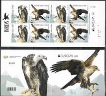 CYPRUS, 2019, MNH, EUROPA, BIRDS, BIRDS OF PREY,BOOKLET - 2019