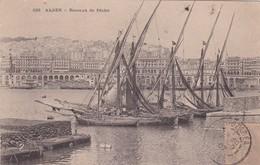 ALGER. BATEAUX DE PECHE. CPA OBLITEREE 1907 BOUZAREAH - BLEUP - Algeri