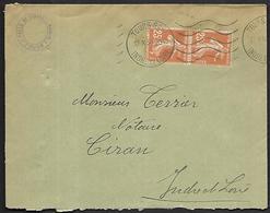 LF C26  Enveloppe De 1934 De Tours Timbres N°235x2 - Poststempel (Briefe)