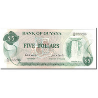 Billet, Guyana, 5 Dollars, KM:22e, NEUF - Guyana