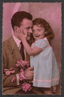 92366/ ENFANTS, Famille, Fillette Et Son Papa - Children And Family Groups