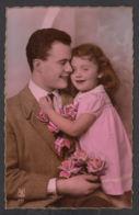 92367/ ENFANTS, Famille, Fillette Et Son Papa - Children And Family Groups