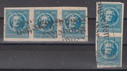 ALLIIERTE BESETZUNG THÜRINGEN - 5 X 20 Pfennig Mit Stempel Saalfelder Feengrotten - Zona Sovietica