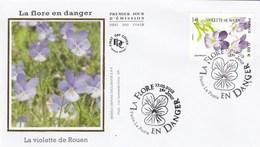 FDC 2019 - La Flore En Danger - Violette De Rouen - 1er Jour Le 17.05.2018 à 75 Paris - FDC