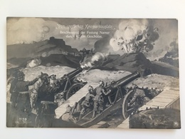 AK Vom Westlichen Kriegsschauplatz Beschiessung Festung Namur Artillerie Kanon Geschutz - Guerre 1914-18