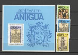 Antigua 1979 Paintings Albrecht Dürer - Durer, Easter Set Of 3 + S/s MNH - Arte