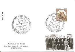 ITALIA - 1983 REGGIO EMILIA  40° Anniv. Sacrificio 7 FRATELLI CERVI - Mostra Filatelica - Seconda Guerra Mondiale