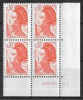 France -1981 - Coin Daté 1/12/81 - Type Liberté De Gandon 30 C. Orange -Y&T N°2182 ** Neuf Luxe 1er Choix - 1980-1989