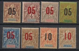 Dahomey - 1912 - N°Yv. 33 - 34 - 35 - 36 - 37 - 38 - 39 - 40 - 8 Valeurs - Neuf Luxe ** / MNH / Postfrisch - Ungebraucht