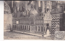 ALGER. INTERIEUR DU TOMBEAU DE SIDI-ABDERHAMAN AU JARDIN MARENG. COLLECTION IDEALE. CPA OBLITEREE 1909 BOUZAREAH - BLEUP - Algeri