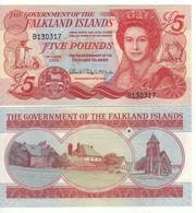 FALKLAND ISLANDS 5  Pounds P17a  Dated 14th June 2005 - Islas Malvinas