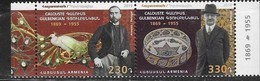 ARMENIA, 2019, MNH, JOINT ISSUE WITH PORTUGAL, ART, BIRDS, FISH, CALOUSTE GOULBEKIAN, 2v - Joint Issues