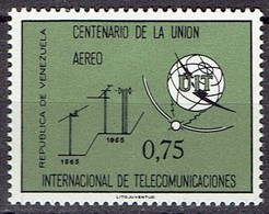 Venezuela 1965 - 100th Anniversary Of ITU - Michel 1632  Yvert 866  -  MH, Avec Trace De Charniere, Ungebraucht - Venezuela