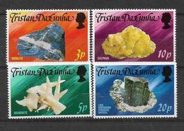 TRISTAN DA CUNHA STAMPS SET MINERAL MNH - Tristan Da Cunha