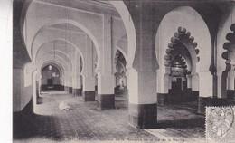 ALGER.  INTERIEUR D ELA MOSQUEE DE LA RUE DE LA MARINE. COLLECTION IDEALE. CPA OBLITEREE 1909 BOUZALEAH - BLEUP - Algeri