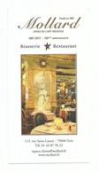 Carte De Visite / Dépliant Publicitaire Brasserie Mollard Joyau De L'art Nouveau Paris Rue Saint Lazare - Tarjetas De Visita