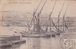 ALGER.  BATEAUX DE PECHE. COLLECTION IDEALE. CPA OBLITEREE 1909 BOUZALEAH - BLEUP - Algeri