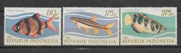 INDONESIA 1983 STAMPS SET FISHES MNH - Indonesia
