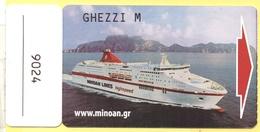 MINOAN LINES - CRUISE EUROPA CABIN KEY CARD - Chiavi Elettroniche Di Alberghi
