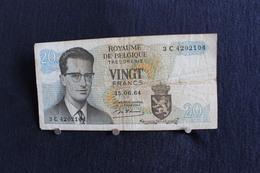 1 / Belgique /  Royaume De Belgique -  20 Francs, Type Roi Bauduin I - Vingt Francs - 15.06.1964 /  3 C 4202104 - [ 2] 1831-... : Koninkrijk België