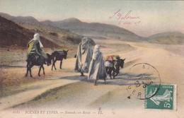 SCENES ET TYPES. NOMADES EN ROUTE. LL. CIRCULEE 1909 ALGER A ROSARIO, ARGENTINE - BLEUP - Scene & Tipi
