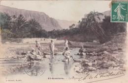 EL KANTARA. LA RIVIERE. J GEISER. COLORISE. CIRCULEE 1909 ALGER A ROSARIO, ARGENTINE - BLEUP - Scene & Tipi