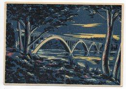 PLOUGASTEL-DAOULAS-Le Pont De Plougastel  --carte Lumineuse Après Exposition à La Lumière...cachet Camping ...à Saisir - Plougastel-Daoulas
