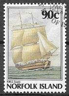 1988 90 Cents Bicentenary Of Norfolk Island Settlement, Used - Norfolk Island