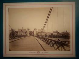Alentours De VICHY - MORNAY-sur-ALLIER -  Pont Suspendu En Bois - Photographie Ancienne Albuminée De Claudius Couton - Photos