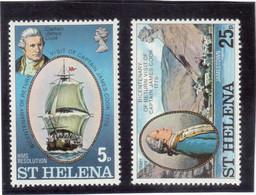 B8 - St HELENA - 273/274 **MNH De 1975 - Captain JAMES COOK - HMS RESOLUTION - JAMESTOWN - 1775 - - Saint Helena Island
