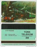 TRF01001 Turkey Turk Telekom Phonecard Train / 30 Unit / Used - Turkey