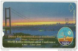 TRF01003 Turkey Turk Telekom Phonecard World Radiocommunication Conference Istanbul 2000 / 60 Unit Used - Turkey