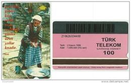 TRF01006 Turkey Turk Telekom Phonecard International Year Of Older Epigram From Kant / 100 Unit / Used - Türkei