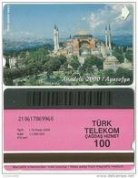 TRF01007 Turkey Turk Telekom Phonecard Mosque Anadolu 2000 / 100 Unit / Used - Turkey